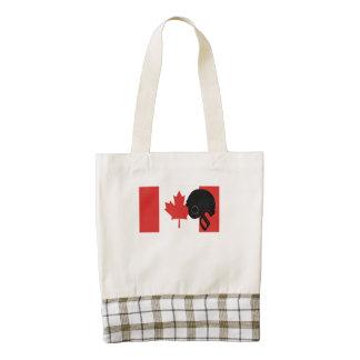 Football Helmet Canadian Flag Zazzle HEART Tote Bag