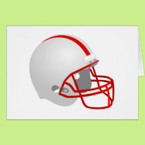 Football helmet card