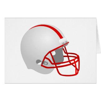 Football helmet card