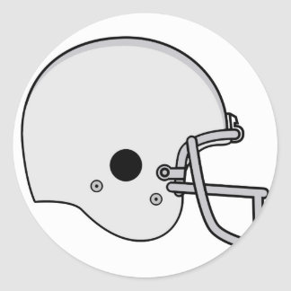 football helmet classic round sticker