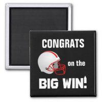 Football Helmet Congrats Magnet magnet