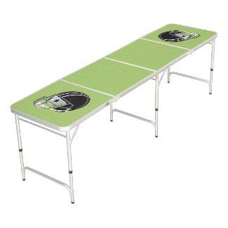 Football Helmet Green Pong Table