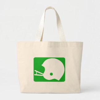 football helmet logo canvas bags