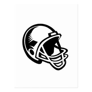 football helmet logo postcard