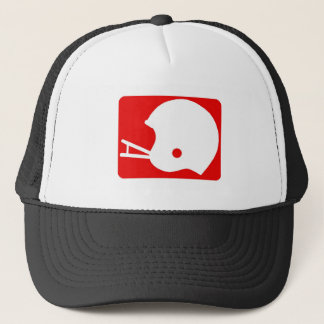 football helmet logo trucker hat