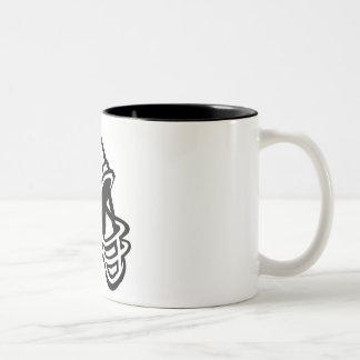 football helmet logo Two-Tone coffee mug