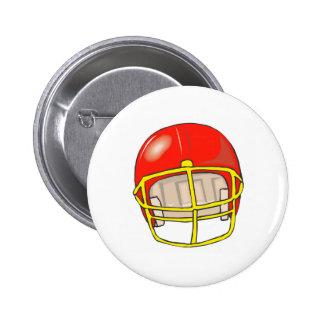 Football helmet logos button