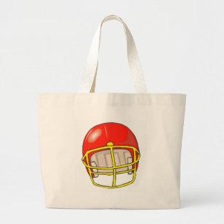 Football helmet logos canvas bag