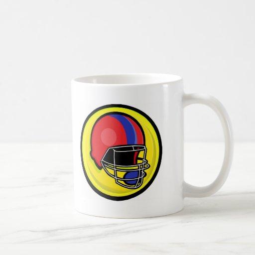 Football helmet logos classic white coffee mug