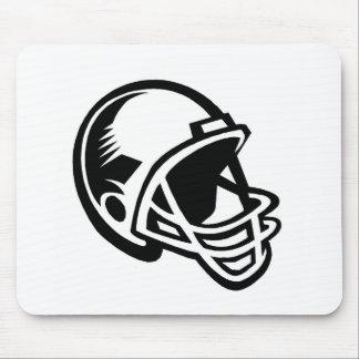 Football helmet logos mouse pad