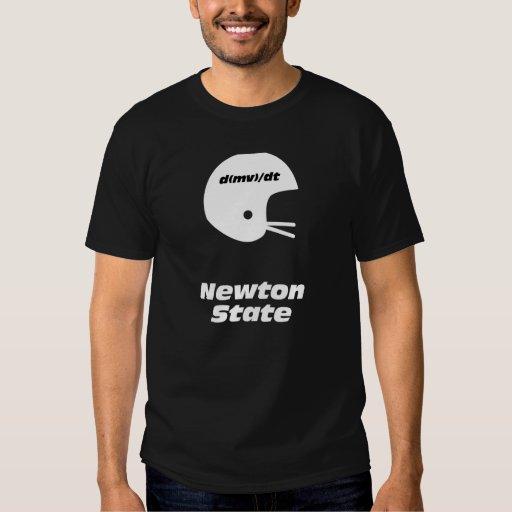 Football Helmet Newton State T Shirt