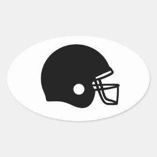 Football helmet oval sticker