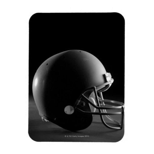 Football helmet rectangular magnet