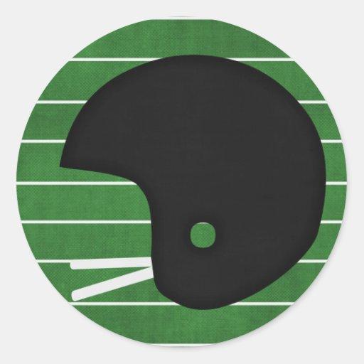 Football helmet round sticker