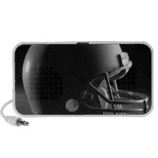 Football helmet travel speakers