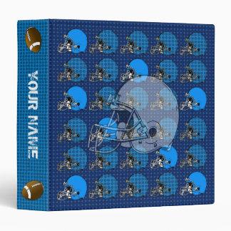 Football Helmet Sport Binder Blue 4