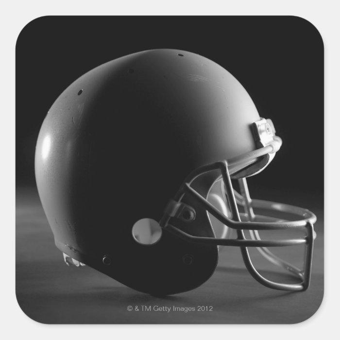 Football helmet square sticker