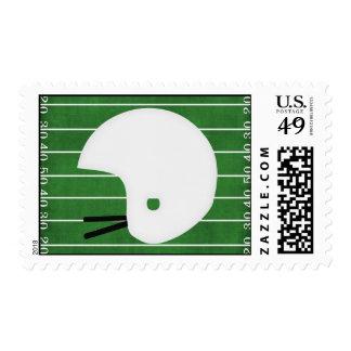 Football helmet stamp