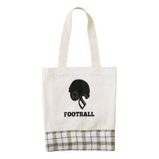 Football Helmet Zazzle HEART Tote Bag