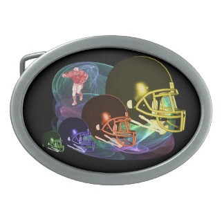 Football Helmets Belt Buckle