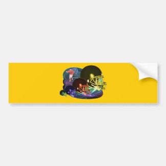 Football Helmets Bumper Sticker