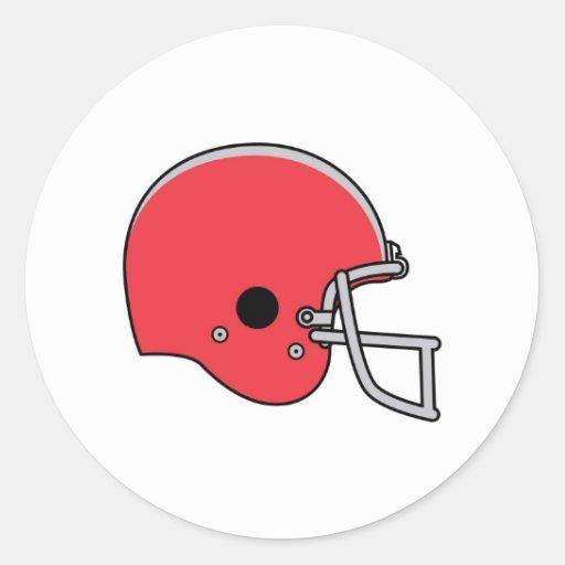 football helmets classic round sticker
