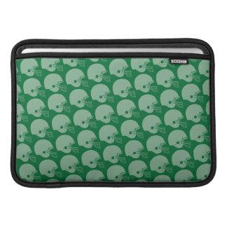 Football Helmets Pattern (green) MacBook Sleeve
