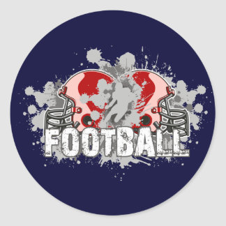 Football.helmets Pegatina Redonda