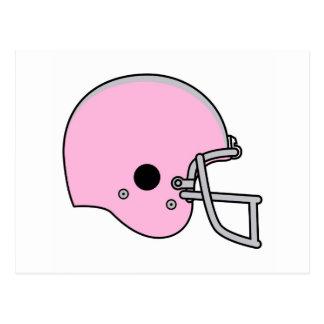 football helmets postcard