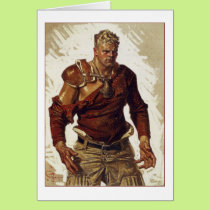 Football Hero by Joseph Leyendecker Card