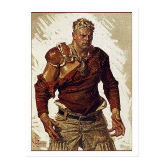 Football Hero by Leyendecker Postcards