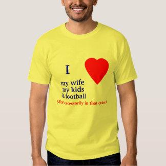 Football I Heart My Wife Shirt