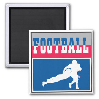 football icon graphic 2 inch square magnet