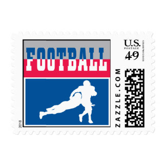 football icon graphic postage stamp