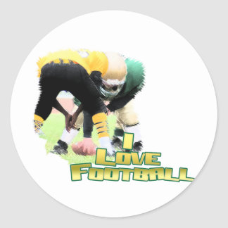 Football iGuide Down the FIeld Classic Round Sticker