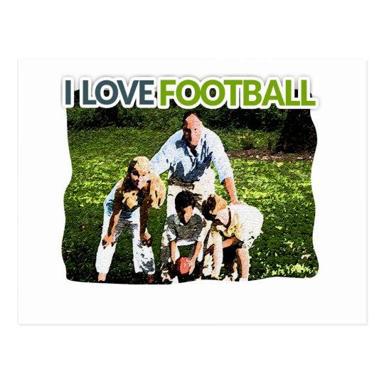 Football iGuide Hut Hut Postcard