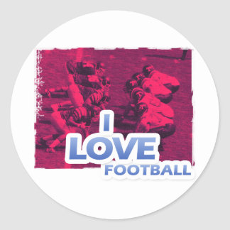 Football iGuide Make the Playoffs! Classic Round Sticker