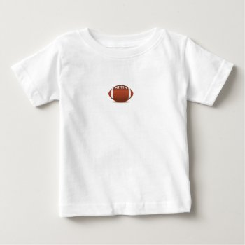 Football Image On Items Baby T-shirt by CREATIVESPORTS at Zazzle