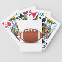 FOOTBALL IMAGE ON ITEMS BICYCLE PLAYING CARDS
