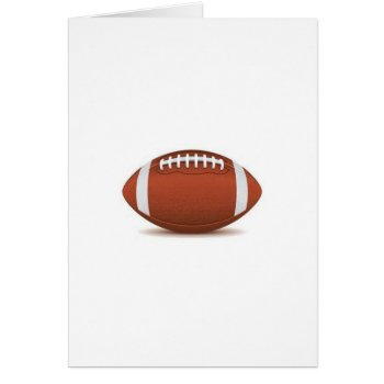 Football Image On Items Card by CREATIVESPORTS at Zazzle