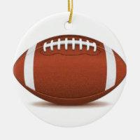FOOTBALL IMAGE ON ITEMS CERAMIC ORNAMENT