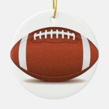 Football Image On Items Ceramic Ornament by CREATIVESPORTS at Zazzle
