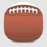 FOOTBALL IMAGE ON ITEMS CLASSIC ROUND STICKER