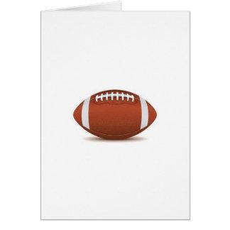 FOOTBALL IMAGE ON ITEMS GREETING CARD