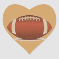 FOOTBALL IMAGE ON ITEMS HEART STICKER