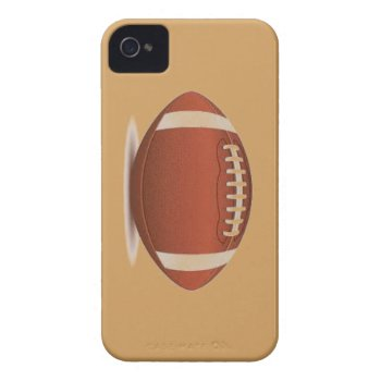 Football Image On Items Iphone 4 Case by CREATIVESPORTS at Zazzle
