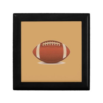 Football Image On Items Keepsake Box by CREATIVESPORTS at Zazzle