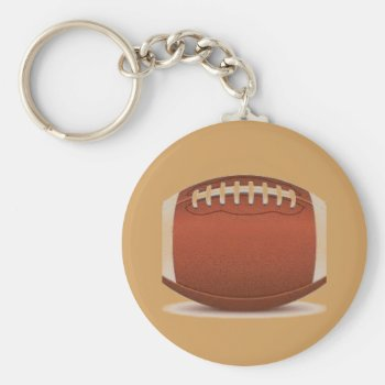 Football Image On Items Keychain by CREATIVESPORTS at Zazzle