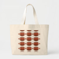 FOOTBALL IMAGE ON ITEMS LARGE TOTE BAG