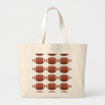 Football Image On Items Large Tote Bag by CREATIVESPORTS at Zazzle